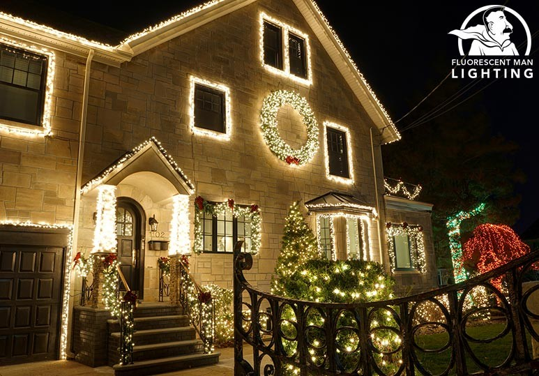 Fluorescent Man Lighting Calgary 5 Reasons To Hire a Professional Exterior Lighting Company This Holiday