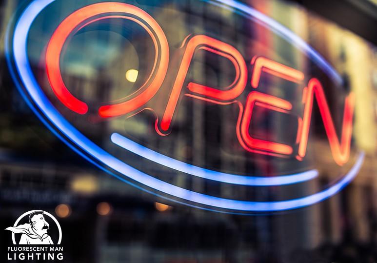 Fluorescent Man Lighting Neon Signs Lights Exterior Outdoors